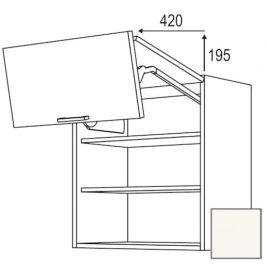 Kuchyňská skříňka horní Naturel Erika24 zlamovací 90 cm bílá lesk 450.WFL9002