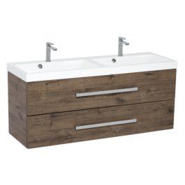 Koupelnová skříňka s umyvadlem Naturel Cube Way 120x40 cm dub wellington CUBE2120ZDW
