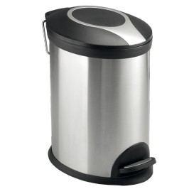 Odpadkový koš volně stojící Optima 12 l nerez/černá mat KOS12PLOVAL - Mereo 12 l