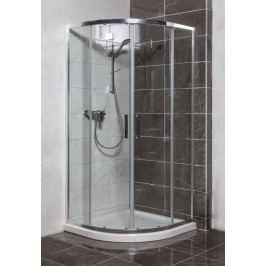 Sprchový kout Siko TEX čtvrtkruh 80 cm, R 550, čiré sklo, chrom profil, univerzální SIKOTEXS80CRT