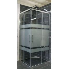 Sprchový kout Anima TEX čtverec 100 cm, sklo stripe, chrom profil, univerzální SIKOTEXQ100CRS