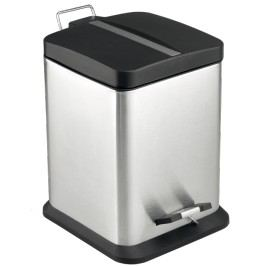Odpadkový koš volně stojící Optima 12 l nerez/černá mat KOS12PLCTVER - Sapho OPTIMA 12 l