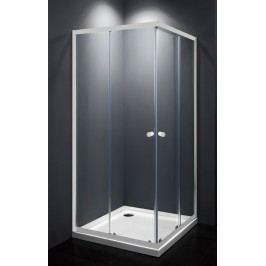 Sprchový kout Multi Basic čtverec 80 cm, čiré sklo, bílý profil, univerzální SIKOMUQ80T0