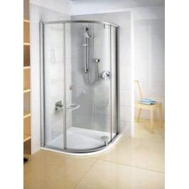 Sprchový kout Ravak Serie 300 čtvrtkruh 80 cm, čiré sklo, satin profil 37644U00Z1