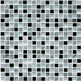 Premium Mosaic kamenná mozaika mix šedá-sklo 30,5x30,5 cm STMOS15MIX1