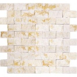 Premium Mosaic Stone Kamenná mozaika krémové cihly 3/6 STMOS3060CR