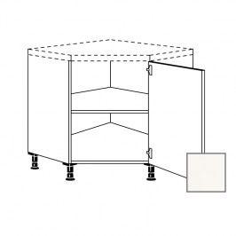 ERIKA24 Kuchyňská skříňka spodní rohová 90 cm pravá, bílá lesk 450.UED90.R
