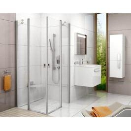 Sprchové dveře Ravak Chrome jednokřídlé 90 cm, čiré sklo, satin profil 1QV70U00Z1