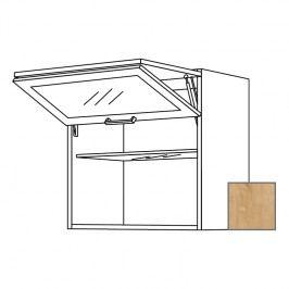 LUSI24 Kuchyňská skříňka horní 90 cm zlamovací, dub, sklo 698.WFLG9001