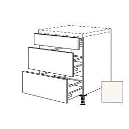 ERIKA24 Kuchyňská skříňka spodní 90 cm 3Z plnovýsuv, bílá lesk 450.UA90