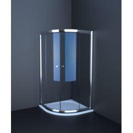 Sprchový kout Anima T-Pro čtvrtkruh 90 cm, R 550, neprůhledné sklo, bílý profil TPSNEW90ROG
