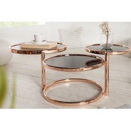 INV Odkládací stolek Focus, 3 úrovně, měď-černá