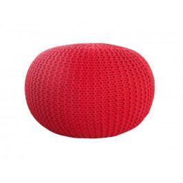 INV Puf Cly 50cm červený, ručně pletený
