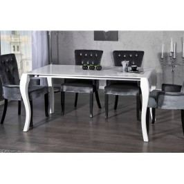 INV Jídelní stůl Boneto Mondi vysoký bílý lesk