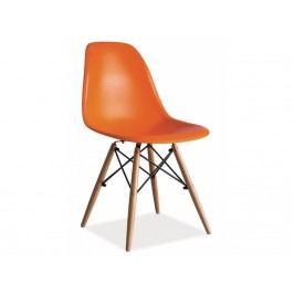 D4L Jídelní židle Mobi oranžová